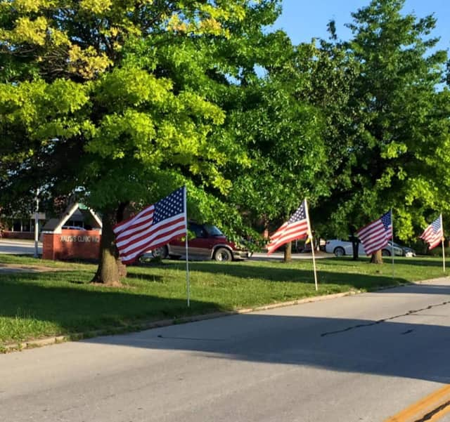 The Wyckoff Fire Department Ladies Auxiliary is selling flags for Sept. 11.