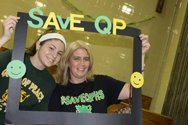 Queen of Peace students and alumni alike tried to save the North Arlington school.