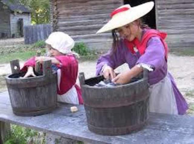 Fifth-graders will be setting up a Colonial-era town on Monday at the Sherman Historical Society.