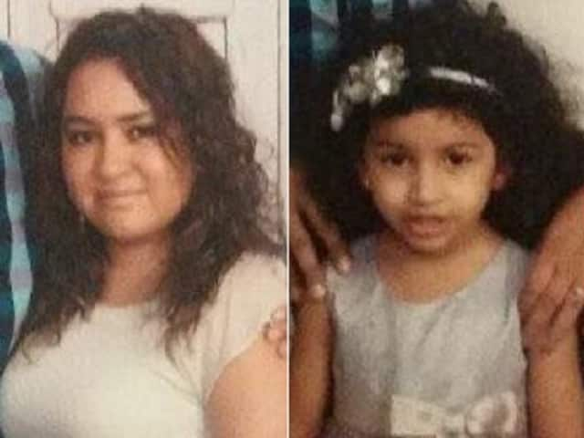 Cecilia Manzueta, 32, and her daughter Valentina, 5, were both last seen on Saturday at the Holiday Inn on southbound Routes 1 and 9 in Newark, NJSP said.