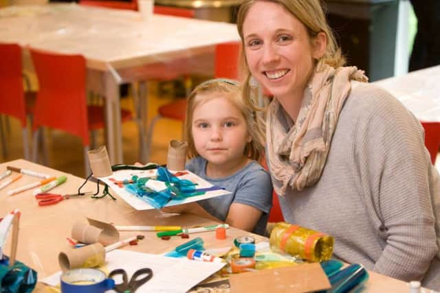 "The Aldrich Contemporary Art Museum's Third Saturday events allow children and parents to work together to create ""one-of-a-kind"" art work."