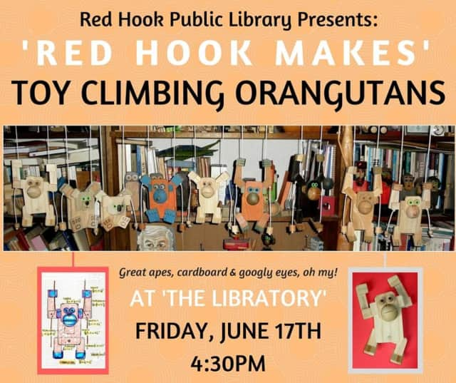 The Red Hook Public Library is to hold a crafts event at 4:30 p.m. on Friday, June 17.