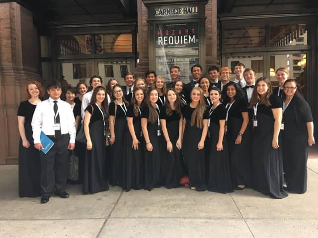 The Pelham Memorial High School Chamber Chorus performed at Carnegie Hall on June 13.