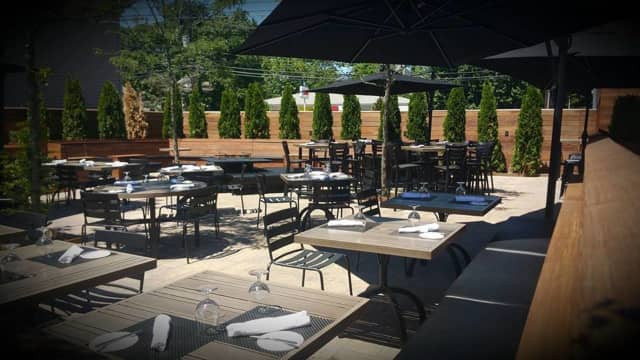 The patio's open at American Cut Bar & Grill in Englewood Cliffs.