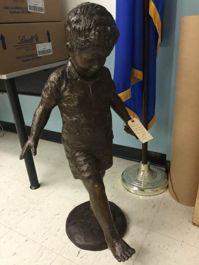 The Newtown Police Department is looking for the owner of this statue found by a resident.