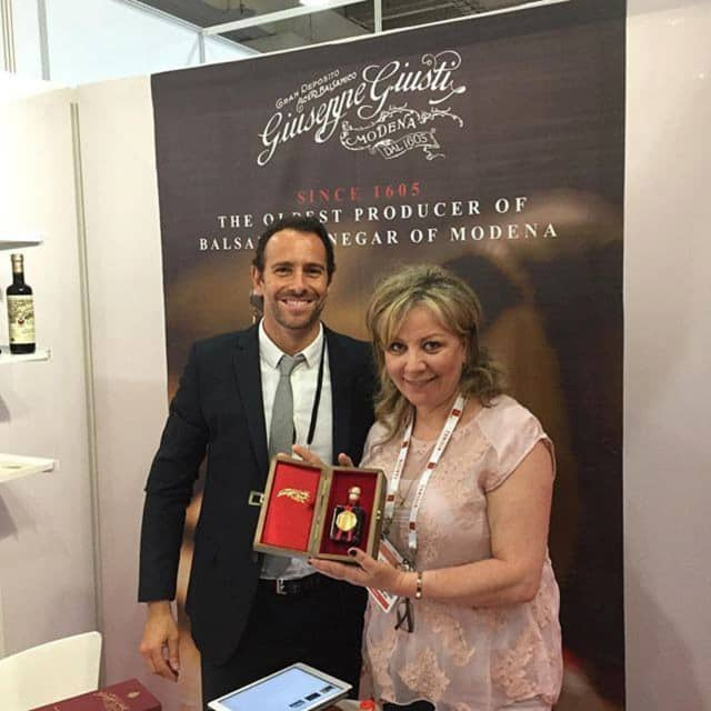 Cooktique Owner Karine Abrahamyan, right, at Fancy Food Show in New York.