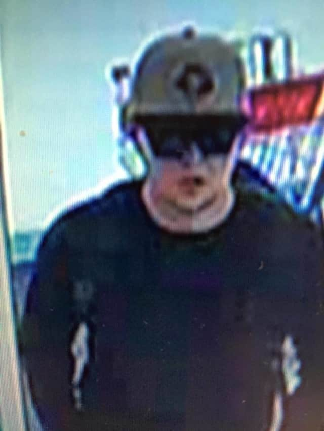 This is a photo of the suspect in a robbery at a CVS in Fairfield.