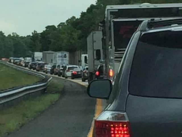 Friday afternoon Fourth of July weekend traffic on northbound Route 287.