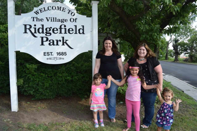 The popular Ridgefield Park Moms Facebook page was launched by longtime residents and sisters Joyce Essig-Bachtler and Elaine Marin, shown here with their daughters.