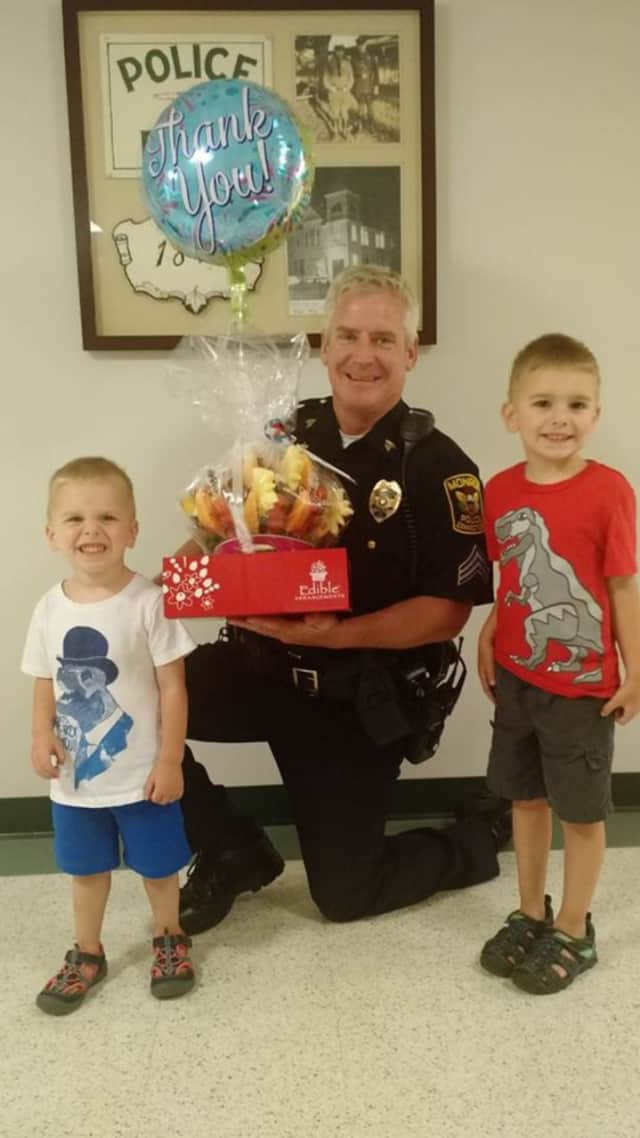 Residents large and small have been dropping off goodies for the Monroe Police Department as a show of support for the department following the Dallas shooting of five officers.