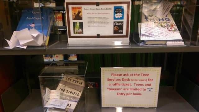The Mahwah Public Library's Super Duper Book Raffle has begun.