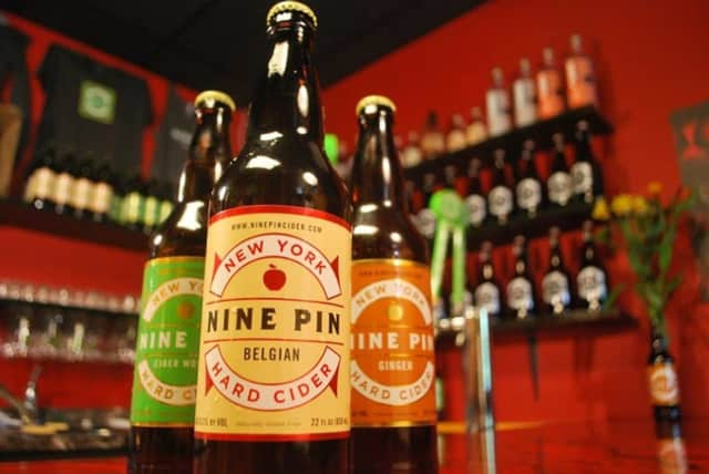 Nine Pin craft ciders, based in Albany, N.Y. is a great way to cap off summer fun.