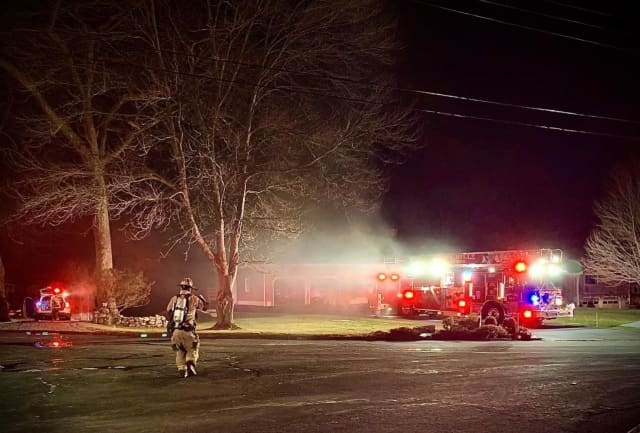 Two people were injured following a fire at a Shelton home.