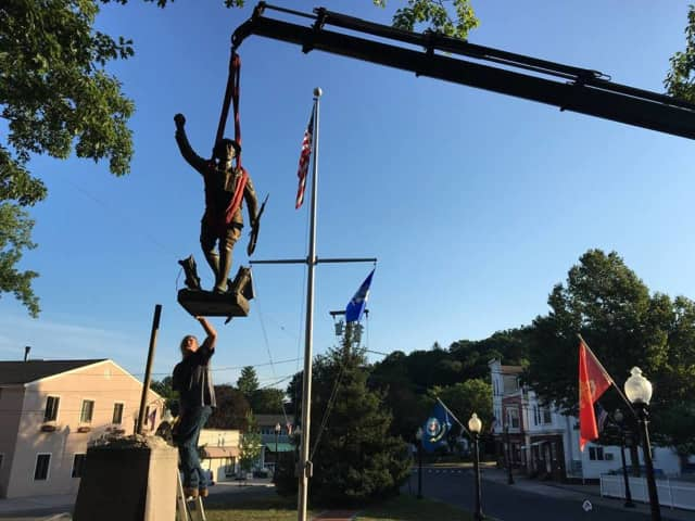 The Spirit of the American Doughboy status in Bethel has been temporarily removed for restoration.