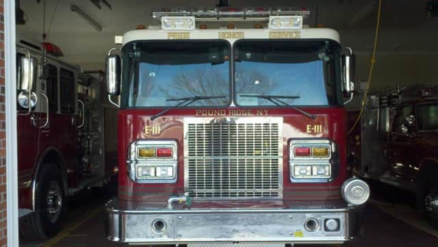 Five fire departments responded to a house fire in Pound Ridge Friday morning.
