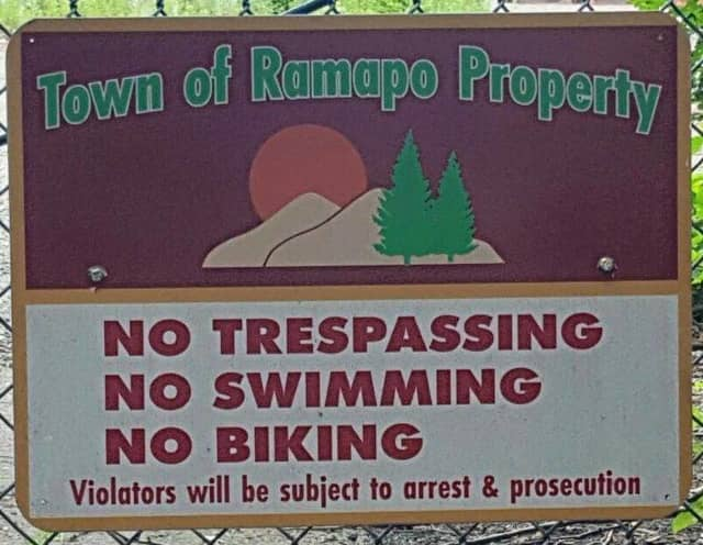 The no trespassing sign from the Quarry.