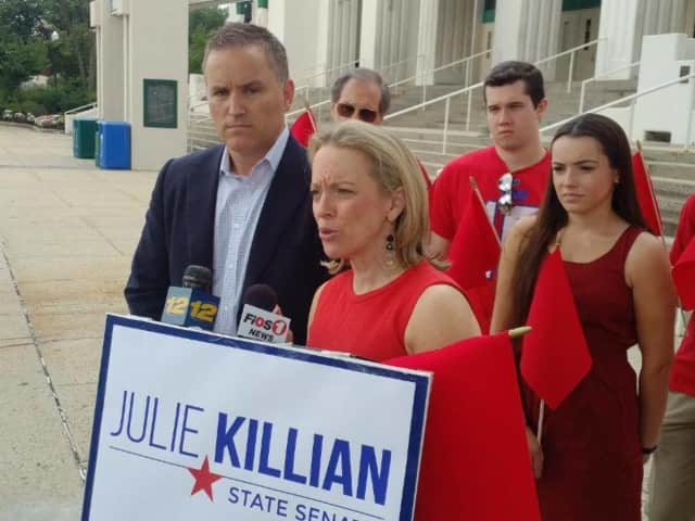 Julie Killian wants to re-appropriate state funding to combat youth drug use in Westchester County.