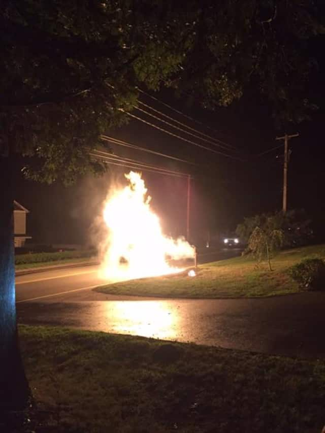 The fire in Trumbull was caused by downed electrical wires.