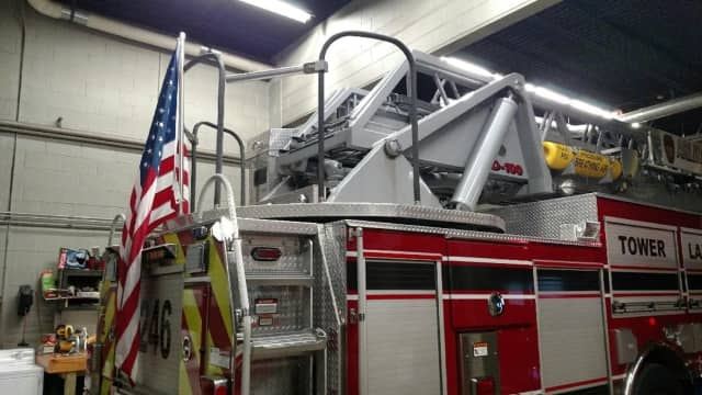 The Arlington Fire District will be allowed to flag one American flag on one of their firetrucks following a meeting with the Fire Commission on Thursday.