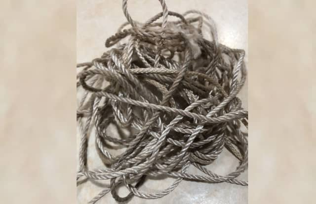 """It was a very thin gauge of twine, about 2mm thick."""