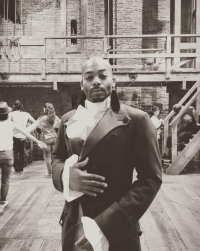 "Brandon Victor Dixon is Aaron Burr in ""Hamilton: An American Musical."""