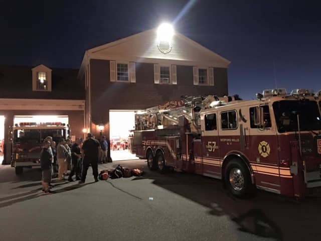 Members of the Bedford Hills Fire Department FAST Team brought equipment to special training Monday with firefighters in neighboring South Salem.