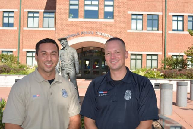 Norwalk Police Officers Joe Frattaroli and Gabe Demott are the district's newest school resource officers.