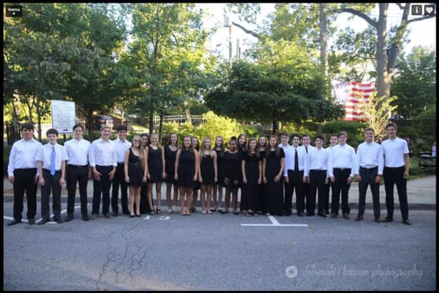 The Pelham Memorial High School Chamber and Concert choruses observed the 15th anniversary of 9/11 at a candlelight vigil.