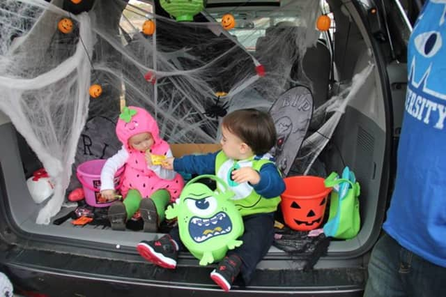 Nathen Allen and Hannah Barone at a previous Carlstadt Trunk or Treat.