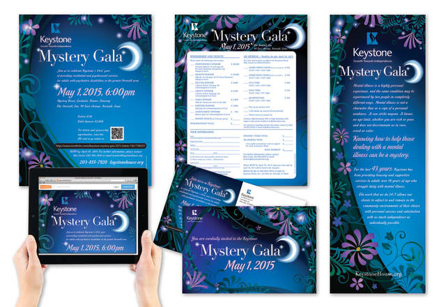"""TFI Envision recently won an award for its Keystone House Inc. """"Mystery Gala"""" 2015 project at the 2015 MarCom Awards Competition."""