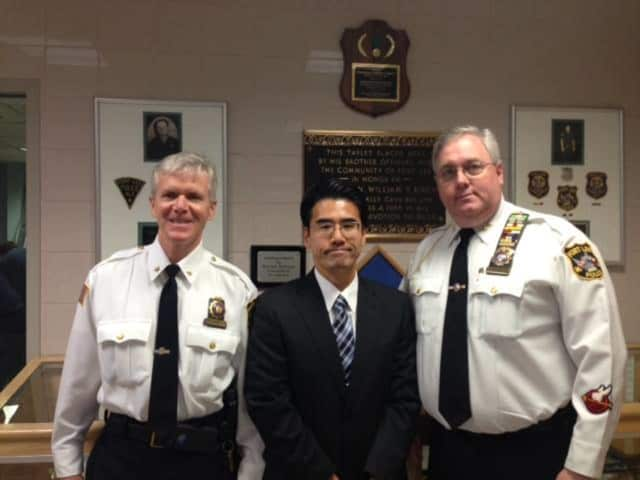 Fort Lee police had a visit from a Tokyo police officer.