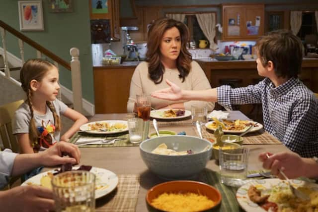 "A scene from the pilot of ABC's ""American Housewife."""