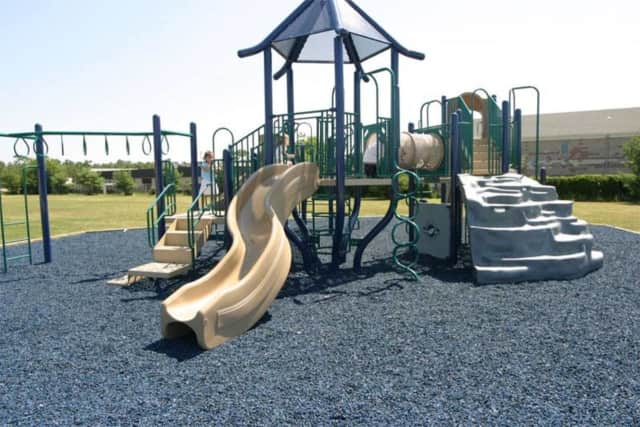 An Englewood church is suing the manufacturer of its playground's floor after 12 toxins were found in it, NJ.com reports.