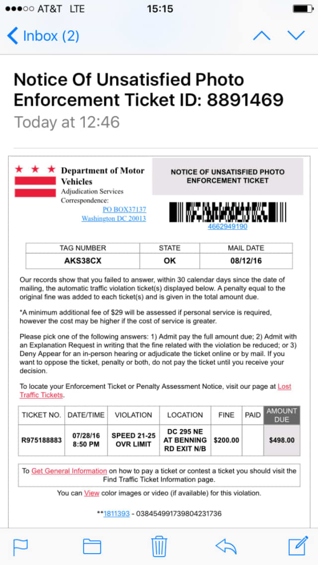 An example of the face tickets that can be received through email.