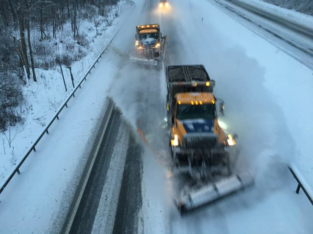 State transportation officials are urging motorists to stay off the roadways as crashes mount.