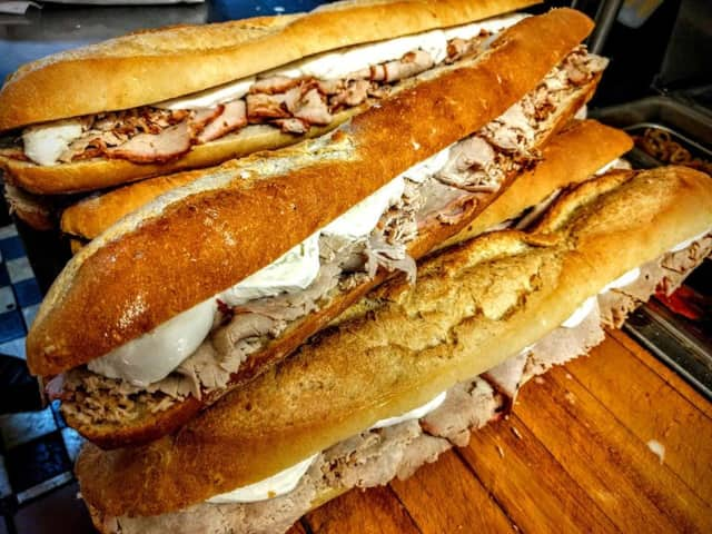 Pork sandwiches from East Rutherford's Annabella's.