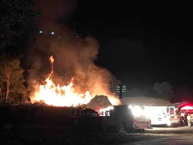 Firefighters battled a brush fire late Sunday night.