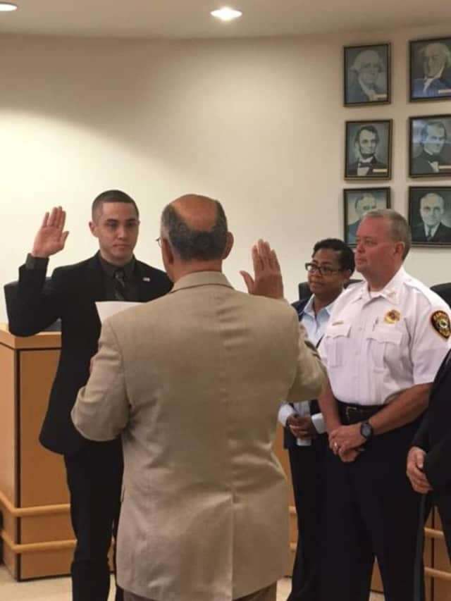 Spyder Batsone was recently sworn in as the Ramapo Police Department's newest officer.