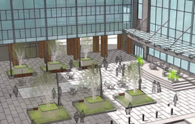 An update to City Center in White Plains includes a call to artists for an atrium project and mural piece.