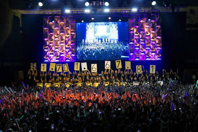 The UDance fundraisers announced their total of more than $1.7 million raised March 13 to benefit pediatric cancer research.