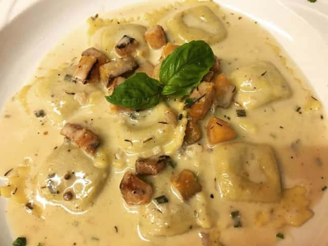 Roasted Butternut Squash Ravioli at Luigi's in Fairfield.