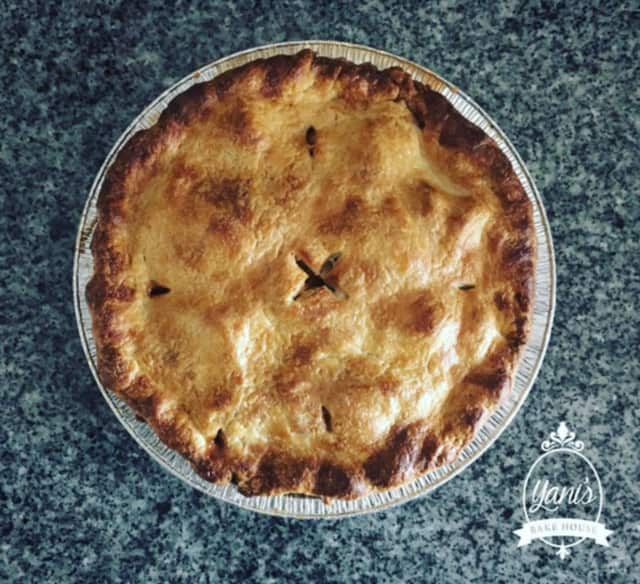 Yani's famous apple pie. Order your own from Yani's Bake House in Fair Lawn.