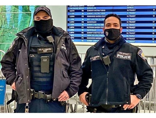 Port Authority Police Officers Kyle Chmura, Chris Figueroa