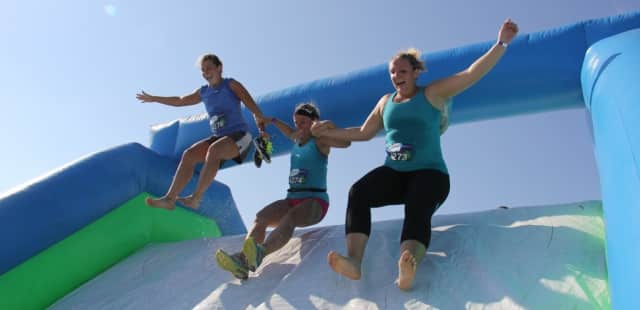More than 4,000 people completed the Insane Inflatable 5K Obstacle Course in Rhinebeck on Saturday.