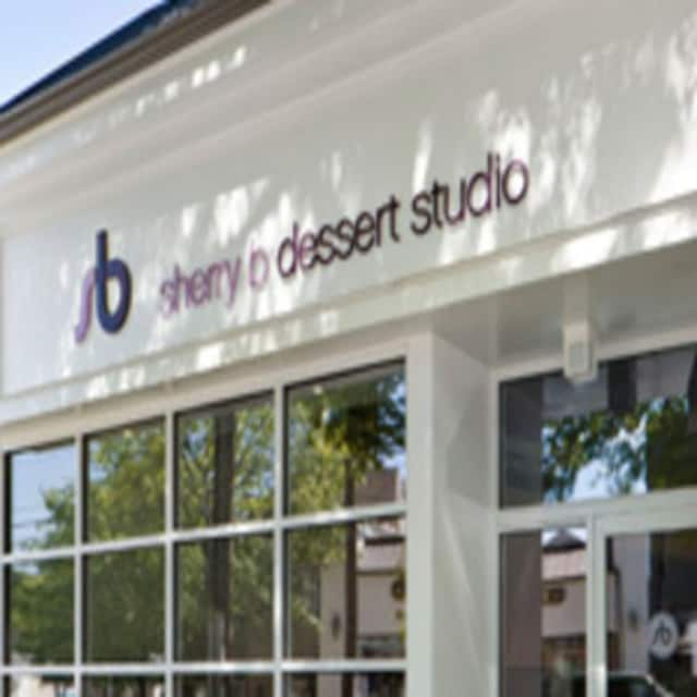 A mural is being painted at sherry b dessert studio in Chappaqua