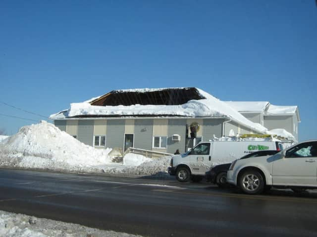 The Clarkstown Police Department is warning residents to make sure their roofs are not to overloaded with snow.