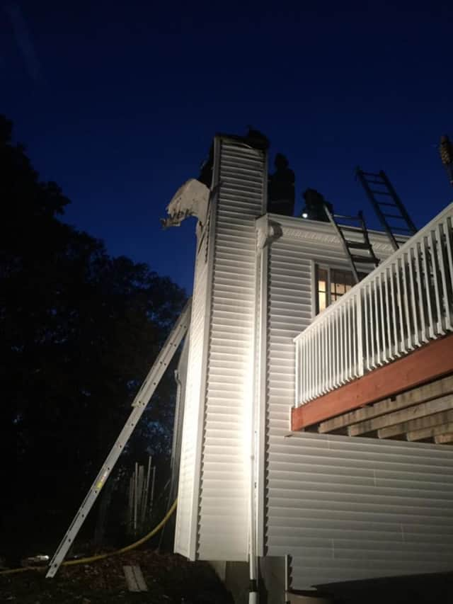 Firefighters got a chimney fire quickly under control Tuesday night in Bethel.