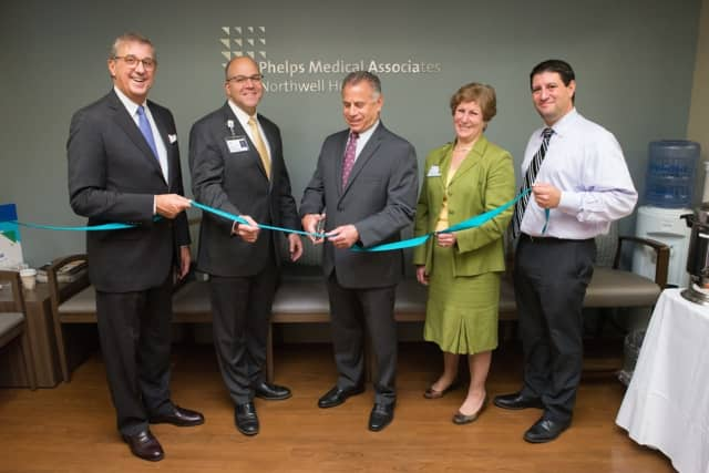 L-R: Richard Sinni, Phelps chairman of 
