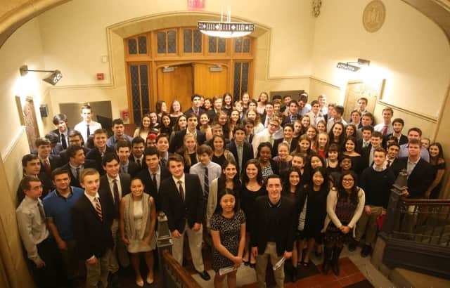 106 Pelham students were inducted into the Knight and Lamp chapter of the National Honor Society.