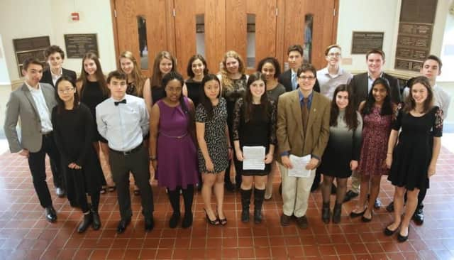 Pelham Students were inducted into the Tri-M Music Honor Society.
